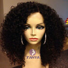 "14"" ~ 20"" Full/Front Lace Wigs Brazilian Remy Human Hair Kinky Curly Density150%"