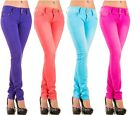 Sexy New Women's Stretchy Coloured Jeans Trousers Treggings Skinny Slim X 169