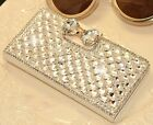 Bling Rhinestone Flip Wallet Leather Case for iPhone 5, 5S, 6, 6Plus, Samsung N3