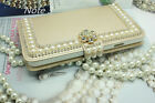 "New Bling Pearl Rhinestone flip Leather Case Cover For iPhone 6 4.7"",6 Plus 5.5"""