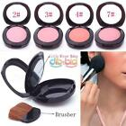 New Portable Face Powder Blusher Palette With Women Cosmetic Mirror Brush in Pro