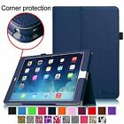 Folio Leather Magnetic Case Stand Cover for iPad Air 2 6th Gen w/ Stylus Holder
