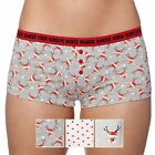 Set Of Three Grey Christmas Reindeer And Spot Printed Cotton Boxer Shorts