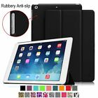 Rubberized Anti-Slip Slim Leather Case Magnetic Cover for iPad Auto Sleep/Awake