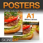 A1 Poster Printing - Full colour MATT Poster Printing Service - FREE P&P!