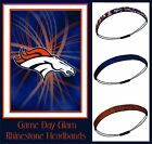 LOT of 3 Denver Broncos Team Color Womens Rhinestone Headbands Wear w/ Jersey