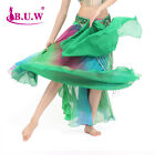 Sexy High Open Belly Dance Dancing Costume Colorful Skirt