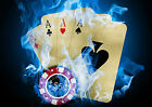 CASINO POKER CARDS ABSTRACT WALL ART POSTER - (A1 - A5 SIZES AVAILABLE)