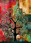 ABSTRACT ART NATURE TREES WALL ART POSTER (A1 - A5 SIZES AVAILABLE)