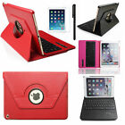 360° Rotating Swivel Bluetooth Keyboard Leather Case Cover For iPad Air 2 /1 4 3