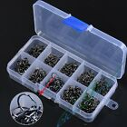 Hot 500pcs 10 Sizes Assorted Sharpened Fishing Hooks Lures Baits With Tackle Box