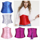 HOT Pure Underbust Waist training STEEL boned corset Top+G-string Plus S-6XL G5