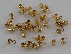 Necklace chain end cap cups 2mm GP gold plated jewellery findings 50, 100 or 500