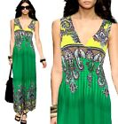 Sexy Lady Flower Print Evening&Casual Party Long Dress 6-14 335