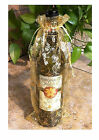 Bottle Gift Bag. Christmas Organza Bag. For Candle, Wine, Etc.  Holly Design