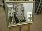"NEW 1 3/4"" SLIGHTLY ORNATE SILVER WALL/OVERMANTLE MIRRORS-VARIOUS SIZES AVAILABL"