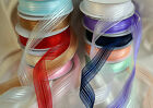 Satin Stripe Organza Chiffon Ribbon 25mm wide  1,3 or 5 Metre lengths