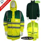 EMT Paramedic Ambulance High Visibility Viz Fleece Lined Breathable Jacket Coat