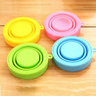Silicone Folding Drinking Cup Telescopic Collapsible Lid Outdoor Travel Tool