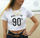 * Made in the 90's Crop Top Tank Tumblr Fashion Blogger Cute Dope Born Swag *