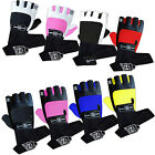 Weight Lifting Gym Gloves Training Leather Fitness Body Building Padded Straps