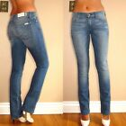 $178 Seven 7 For All Mankind Classic Mid Rise Slim Straight Leg Jeans 25 26 29