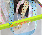 100yards/roll Grosgrain Ribbon Prined Multi-Coloured Dots For DIY Gril Hairbows