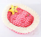 New Pretty Candy Dots Pet Dog Cat Bed House Sofa Kennel 2colors +Star TOY 48cm S