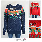 NEW Womens, Mens, Unisex Amazing Retro Christmas Novelty Print Knitted Jumper
