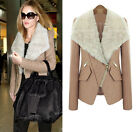 new winter wool coat fur collar coat jacket women short paragraph Slim