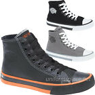 Harley Davidson Shoes Mens Nathan Leather / Canvas  Hi-Top Sneakers Shoes Colors