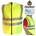 Mens High Visibility EN471 Safety Vest Hi Viz Vis Reflective Waistcoat Work Wear