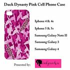 New Custom Pink Duck Dynasty phone hard cover case for iphone & samsung galaxy