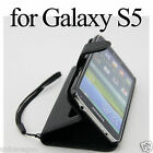Faux Leather Case Wallet Cover Card Holder Glass SP For Samsung Galaxy S5 i9600