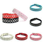 Dog Cat Collars Buckle Vogue Rhinestones Crystal Diamante Leather