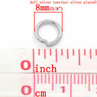 Wholesale Stainless Steel Open Jump Rings Jewelry Making Findings 8mm Dia~1.2mm