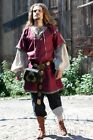 Medieval Costume , Medieval classic tunic and overtunic flax linen set