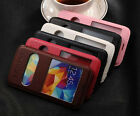 New VIEW Windows Leather Flip Stand Case Cover For Samsung Galaxy S5 S 5 V G900