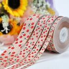 100Yards/roll Grosgrain Ribbon Printed Cherry For Wedding Crafts bluk
