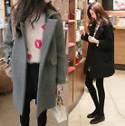 Fashion Womens Wool Cashmere Long Winter Coat Trench Warm Thicken Parka Outwear