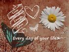 Live, Laugh, Love, Every Day of Your Life Floral Signed Matted Picture A707