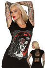 JAWBREAKER DEAD BRIDE LADIES T SHIRT PORTRAIT GOTHIC TOP PUNK METAL SLITS