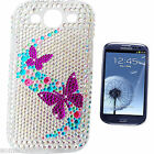 BLING COOL BUTTERFLY DIAMANTE CASE COVER 4 SAMSUNG GALAXY S S2 S3 Mini S4 S5 ACE