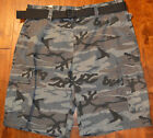 Men's Rue 21 Carbon Camouflage Classic Length Cargo Shorts With Belt 26, 38