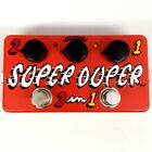 ZVEX Super-Duper 2-in-1 Dual Cascading Boost Guitar Effect Pedals Hand Painted