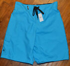 Men's Rue 21 Carbon Aqua Blue Swim Shorts Trunks Sizes Small, Medium, Large