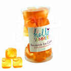 NEW REUSABLE ICE CUBES 20 PLASTIC PARTY COLD DRINK COOLER COOL FRREZE BLOCKS