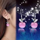 Hot Women Personality Apple Moonstone  Ear Stud Earrings Jewelry Valentine Gift