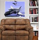 F4B Phantom Jet Fighter Plane WALL DECAL MAN CAVE ROOM DECOR MURAL PRINT