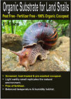 LAND SNAIL BEDDING, SUBSTRATE, SOIL - FOR LAND SNAILS TANK. - 100% ORGANIC